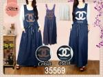 dress denim+kaos chanel fit to L @140ribu